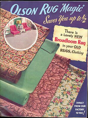 Vintage 1952 Olson Rug Catalog With Mailing Envelope 1 1/2 and 1 cent stamps