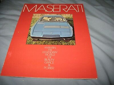 Maserati Khamsin big folder brochure English