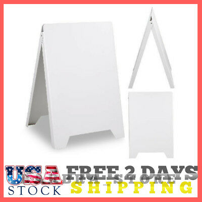 "19 11/16""W x 32 11/16""L Sidewalk Sign Board Outdoor A-Frame Double Sided Plastic"