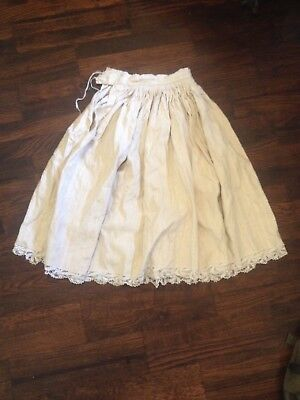 Croatian handmade original antique 19th 20th century 1910s skirt lace