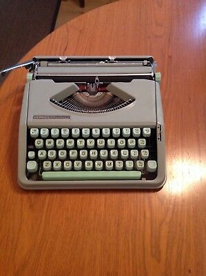 Hermes Baby Rocket Mint Green Portable Typewriter in Superb Condition