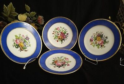 lot de 4 assiettes porcelaine de paris XIX°