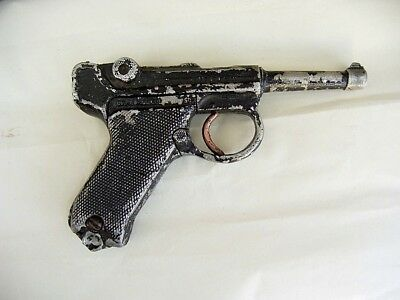 Alte Luger 2 WK Spielzeug Militärpistole 08/90, Metall, Ideal Modell, Germany