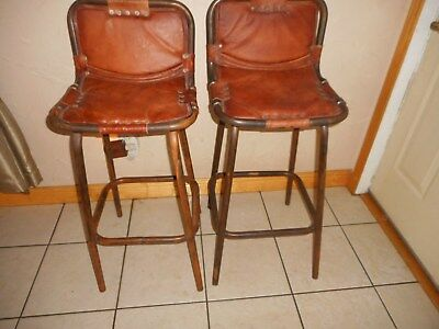 Extra TALL Leather Reclaimed Rustic chairs /Bar. NWT, Retail $2,780. SAVE $2,130