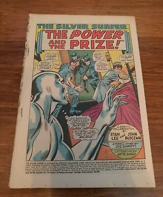 Silver Surfer #3 Hot Silver Age Key 1st Mephisto Early Comic Book!
