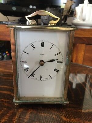 Vintage Metamec Brass Carriage Clock Battery Operated Working
