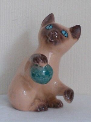 Italian Pottery Cat With Ball