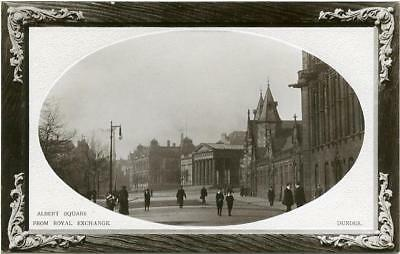 Real Photographic Postcard Of Albert Square, Dundee, Angus, Scotland