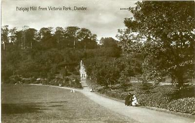 Real Photo Postcard Of Balgay Hill From Victoria Park, Dundee, Angus, Scotland