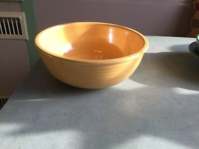 vintage fiesta yellow promotional/unlisted salad bowl