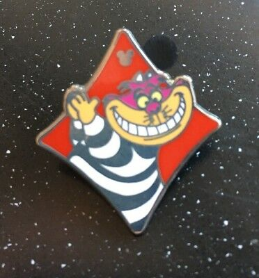 Disney Pin Alice In Wonderland Hidden Mickey Mouse Cast Cheshire Cat Smiling Red