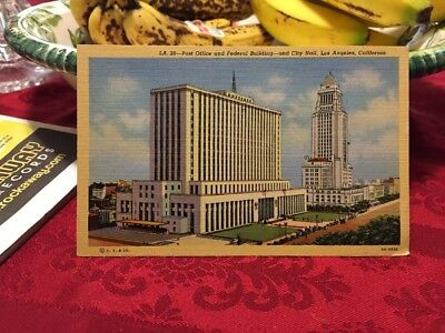 Los Angeles Federal Building, Post Office and City Hall Postcard (LA. 26)