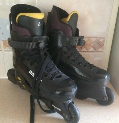 Bauer FX3 Men's Black In-Line Skates - Size 8 - Very Good Condition