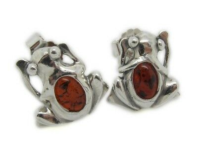 Amberta® Designer Solid Sterling 925 Silver with Genuine Baltic Amber Gemstone
