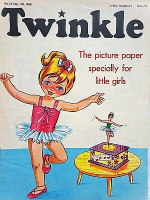 TWINKLE #16 - 11th MAY 1968 - SCARCE VERY EARLY ISSUE !! FINE...bunty judy mandy