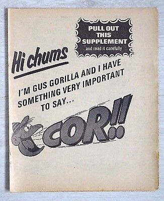 COR !! Comic #1 ISSUE 1 (June 1970) FLYER - VERY SCARCE !! From Buster VGC beano