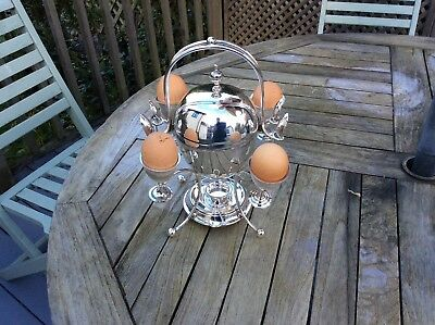Stunning silver plated egg warmer on stand c1880 by Richard Richardson Sheffield