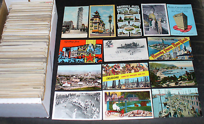Terrific Us Antique & Vintage Postcard Lot  1000  Postcards