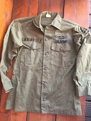 Original US Vietnam Shirt Jacket SZ. M, mit Paches
