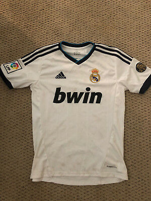 db8cac5dcc5 ADIDAS Real Madrid 110 Years 2012 HOME Jersey Youth LARGE RARE Used White  Jersey