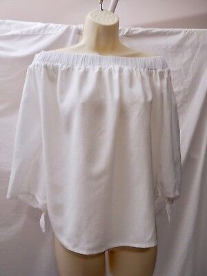 Old Navy Off Shoulder Cotton Peasant Top Cool Cotton Size Small White