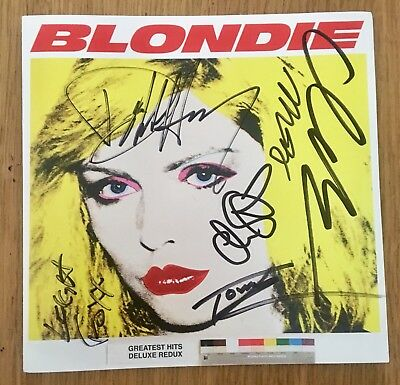 Blondie -  Redux signed by Debbie Harry & the band  CD cover/inlay ONLY - NO CD