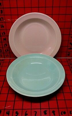 "Vintage Pair of 2 LU-RAY LuRay Pastel Soup Cereal Salad Serving 8"" Bowls MCM"