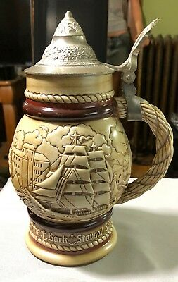 Avon Large Beer Stein Handcrafted In Brazil1977 #18113 Labeled Avon 1977