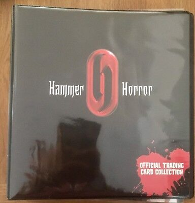 Hammer Horror Cards Ink Trading Card Series 1 Offical Binder & 9 x clear sleeves