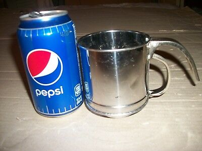 Vintage Small Steel Flour Sifter - It Holds About 2 Cups