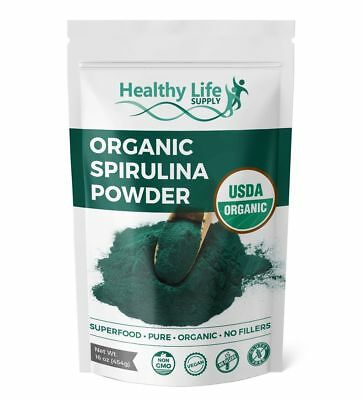 Organic Spirulina Powder Certified USDA Organic Non GMO Pure Super Green