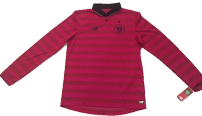 New Balance Glasgow Celtic Football Club Pink 3rd Shirt  L/S Adult  BNWT £18.75