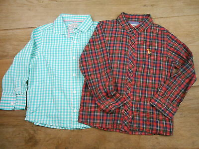 Next Boys Checked Prints Shirts Long Sleeves Size 3-4Y