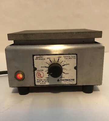 Thermolyne Sybron Corporation Hot plate type 1900 Model HP-A1915B 120V 750W
