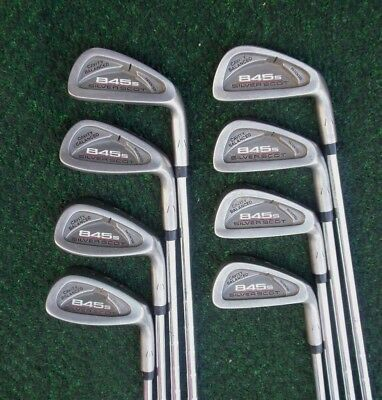 Tommy Armour 845S Silver Scot Irons 3 Thru PW Steel Stiff Flex NIce