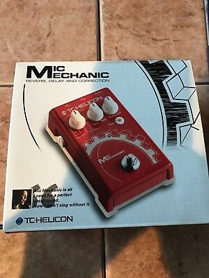 TC-Helicon VoiceTone Mic Mechanic Vocal Reverb Delay Pedal