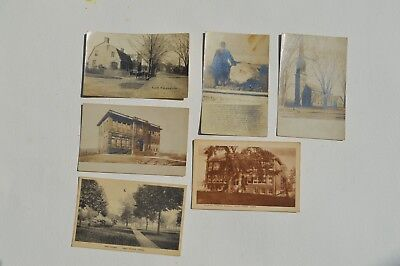 6 Very Early East Haven, Ct/connecticut Postcards Depicting The Green, School...
