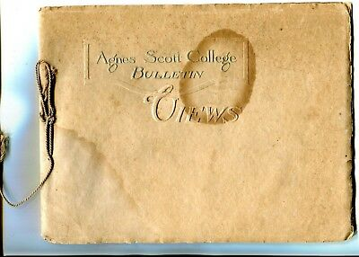 Early 1900's Booklet Agnes Scott College Decatur Ga Ser 15 No 7 40 Pgs Pictures