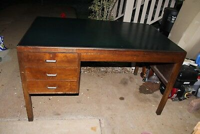 Vintage Desk Queensland Goverment Leather top