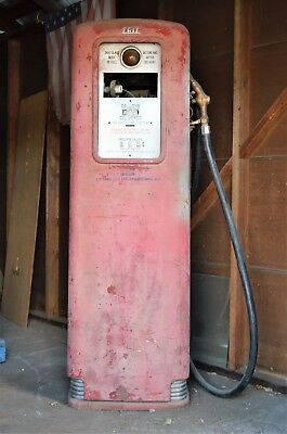 Vintage Gas Pump ERIE  Serial HM2971 metal straight great for restoration