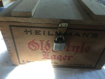 Old Style Lager Miniature Wooden Beer Crate