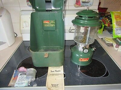 Coleman 220f 1970 Lantern with Metal case