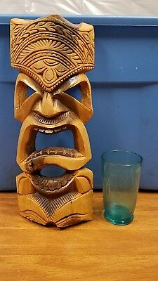 Incredible south pacific hand carved TIKI wall sculpture,TIKI MASK,Hawaiian