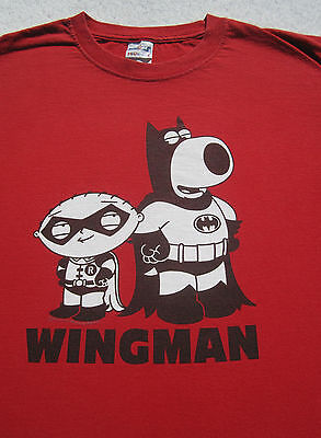 Family Guy WINGMAN Batman & Robin MEDIUM T-SHIRT