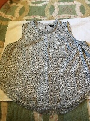 WHO WHAT WEAR Blk/Wht 2X Shell Blouse