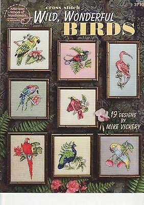 CROSS STITCH BOOK - 'Wild Wonderful Birds' - (Produced Rita Weiss)
