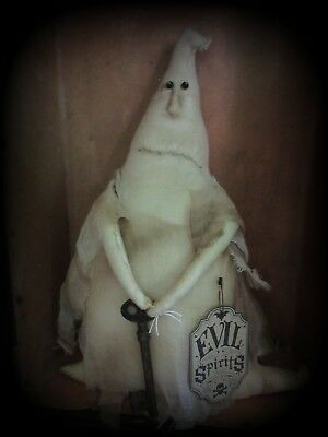 Primitive Halloween Ghost Duncan with old key Evil Spirits doll folk art decor