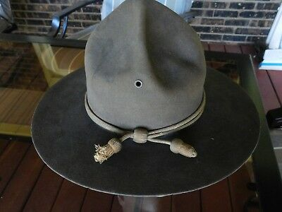 Wwii Drill Instructor Or Campaign Hat With Cord