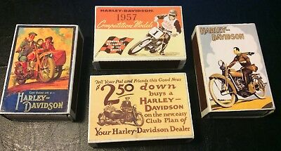 Harley Davidson Motorcycles Matchboxes. Retro Matchboxes. Collectable