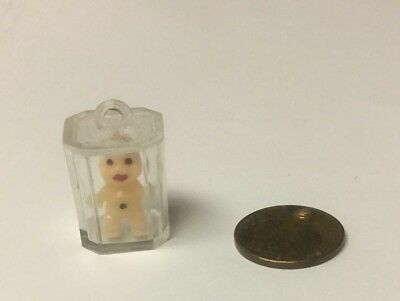 Vintage Gumball Machine Prize Boy In A Clear Box.  Ice Cube?